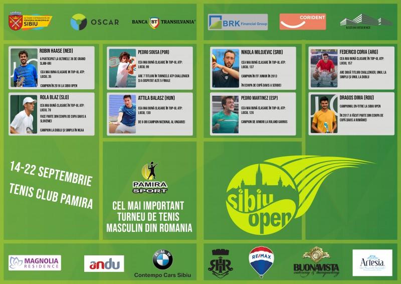 Ei sunt principalii favoriti la Sibiu Open